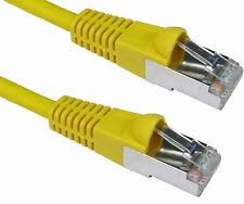 1 Metro De 1m Amarillo Cat 6a Blindado enganche 10g Lszh Red Ethernet Patch Cable