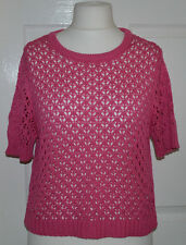 ❤❤ Atmosphere pink cropped short sleeve jumper / top plus size uk 18 ❤❤