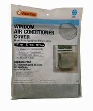 "Thermwell 18"" x 27"" x 16"", Silver, Window Air Conditioner Cover 2 Pack"