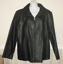 NWT! EAST 5TH Women's FULLY LINED 100% GENUINE LEATHER  COAT JACKET Black Sz 3X