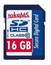 TakeMS 16GB Class 10 SDHC Memory Card Digital Camera, Data File Transfer