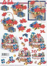 Feuille 3D à découper A4 - Cadeau Noël 777.563 - Decoupage Christmas Presents