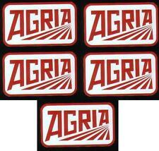 5 Agria Aufkleber alte Schriftzug Einachser 9,3 x 5,0cm mit Rahmen