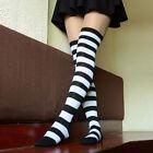 Women Girl Stripe Stripy Striped Over The Knee Thigh High Stockings Long Socks