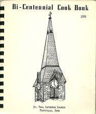 POSTVILLE, IOWA COOKBOOK - ST. PAUL LUTHERAN CHURCH - GERMAN HERITAGE - 1976