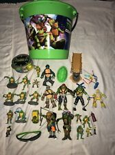 Teenage Mutant Ninja Turtles Lot Of 30+ Pieces Toys Sound Figures Accessories