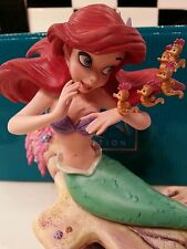 "RARE ""1ST"" VERSION WDCC DISNEY THE LITTLE MERMAID ARIEL SEAHORSE  MIB COA FR SH"