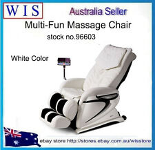 Wht Electric Multi-fun Massage Chair Gravity Zero Recliner Foot Massage FullBody