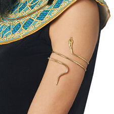 CLEOPATRA EGYPTIAN QUEEN OF THE NILE COSTUME GOLD METAL SNAKE ARMBAND BRACELET