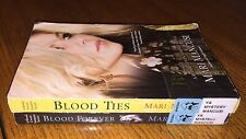 Lot of 2 A Blood Coven Vampire Novel ~ Blood Ties & Blood Forever ~ Mari Mancusi