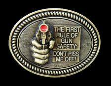 Boucle de Ceinture Rule Of Gun Safety Don't Piss Me Off Humor Cool Belt Buckles