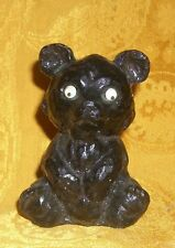 "Vintage 3.25""T Bear Figurine Handcrafted From Coal"