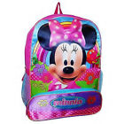 "MINNIE MOUSE DISNEY Girls 16"" Full-Size School Backpack w/ Pencil Pocket NWT $30"