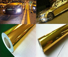 "Gold 60""*8""chrome vinyl for car wrapping Vehicle Wrap Vinyl Sticke--150cm*20cm"