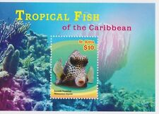 St Kitts - Tropical Fish of the Caribbean, 2015 - 1504 S/S MNH