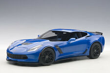 Autoart Chevrolet Corvette C7 Z06 1:18 Model Car Laguna Blue 71265
