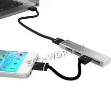 4 Port mini High Speed USB 2.0 HUB Expansion Power Adapter For Notebook PC Phone