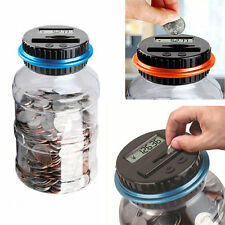Electronic Digital LCD Counting Coin Bank Money Saving Storage Piggy Box Pot Jar
