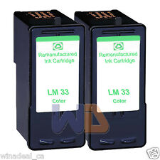 2 Color Lexmark 33 Ink Cartridge For X3330 X5250 X5450 X3350 X5270 X5470 Printer