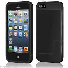 Incipio iPhone 5 Edge Pro Hard Cover Shell Slider Carrying Case Obsidian Black