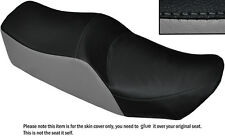 BLACK & GREY CUSTOM FITS KAWASAKI Z 550 LTD DUAL LEATHER SEAT COVER ONLY