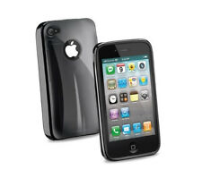 COVER + PELLICOLA CELLULAR LINE PER APPLE IPHONE 4 4S NERA NUOVA BLACK NERO