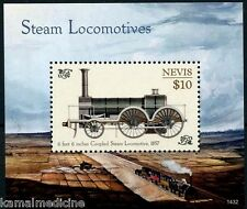 Nevis 2014 MNH MS, Steam Locomotives, Trains, Railways, Coupled Steam Engine