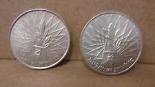 2 1967 10 Lirot Israel Jewish Coins km 49 49a BU & Proof 900 935 Fine silver