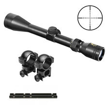 NcStar 3-9x40 Scope With Rings + Weaver Rail Mount Fits Savage 170 Rifles