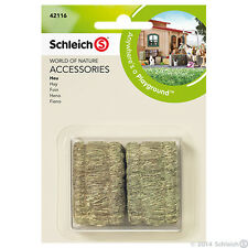 NEW SCHLEICH 42116 Accessories - Equestrian Horse Hay Bales 2 Piece Play Set