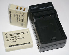 2pc  NP-95 NP95 Battery + Charger for Fuji Fujifilm FinePix X100 X100S F30 F31fd