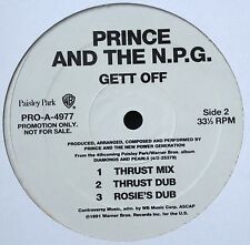 "PRINCE AND THE NPG GET OFF PROMO 12"" VINYL 1991 N.MINT VERY RARE"