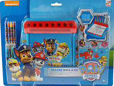 Paw Patrol Cartoon Dogs Deluxe Roll and Go Art Colouring Desk Station Toy