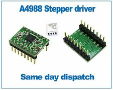 A4988 StepStick Stepper Motor Driver with self adhesive Heatsink Green PCB