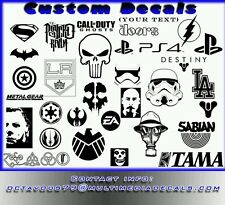 2pk Custom Decals for tablets, smartphones, Cars, Macbook, Laptop 6' to 15'