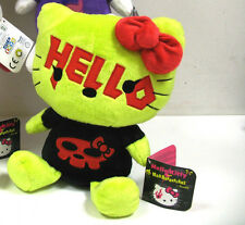 PELUCHE PLUSH DOLL 30cm SANRIO-HELLO KITTY DARK PUNK MAD BARBARIANS GIALLO NERO