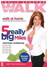 Leslie Sansone Just Walk: 5 Really Big Miles W/band NEW R4 DVD