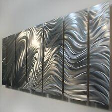 Abstract Modern Silver Metal Wall Art Home Decor - Hypnotic Sands by Jon Allen