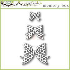 """MEMORY BOX 30068 """"Polkadot Bows"""" 4 Crafting Dies100% Steel Die"""