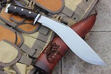 "11"" Authentic British Gurkha Afghan Brown Khukuri, Hand Forged Blade NHZ Kukri"