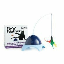 Ruff N Tumble Fly 'N' Feather Teaser Cat Play Toy