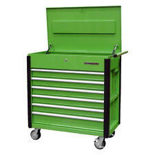 Quality Craft 24969 - Green 6 Drawer Professional Tool Cart