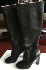 Red Valentino Betty Women EU 37 Black Leather Knee High Boot With Bows