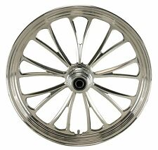 "Ultima Polished Manhattan CNC 21"" x 2.15"" Front Wheel for Harley & Custom Models"