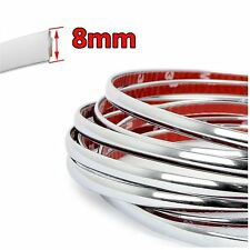 8mm 26ft 3M Tape Car Moulding Trim Chrome Strip For Ford Toyota
