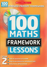 100 New Maths Framework Lessons for Year 2 by Caroline Clissold (Mixed media...