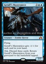 Shadows Over Innistrad ~ GERALF'S MASTERPIECE mythic rare Magic Gathering card