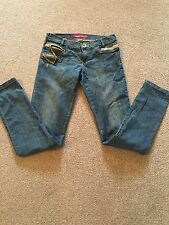 MISS SIXTY AGE 14 GIRLS STRAIGHT LEG JEANS & ZIPS/CHAIN TOWIE/XMAS RRP £35
