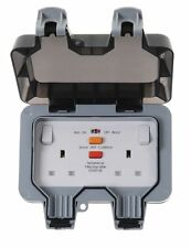 BG Nexus Storm 2G Twin WP22RCD IP66 Weatherproof Outdoor Switched Socket 13A