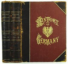 1877 HISTORY OF GERMANY VOLS II & III (of 4) PROFUSELY ILLUSTRATED LEATHER BOUND